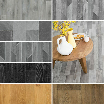 Quality Non Slip Vinyl Flooring Tile Effects Cheap Kitchen Bathroom 2m 3m 4m