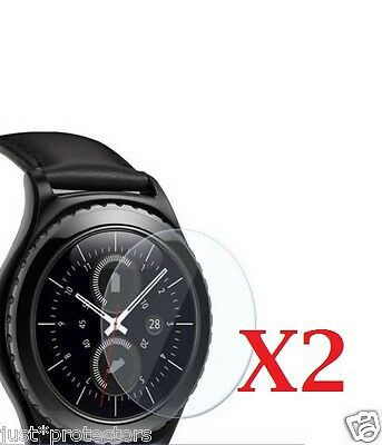 2x Samsung Galaxy Gear S2 / S2 Classic Watch Tempered Glass Screen Protectors