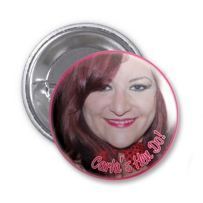 Single (Add On) Personalised Photo Hen Do Badge
