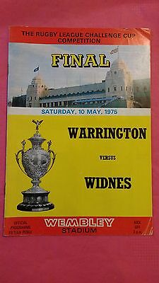 Warrington v Widnes 1975 Rugby League Challenge Cup Final Programme