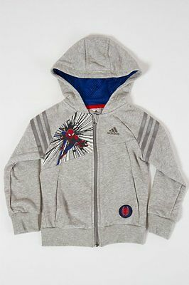 Adidas Felpa full zip con Cappuccio Spiderman #S22064