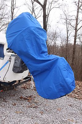 NEW ROYAL BLUE VORTEX COMPLETE OUTBOARD MOTOR COVER 'HOODIE' up to 250 HP