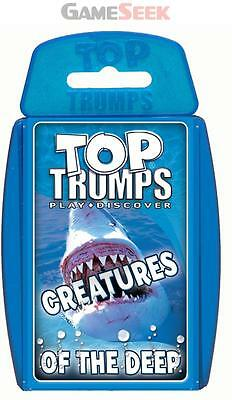 Top Trumps Creatures Of The Deep - Toys Brand New Free Delivery
