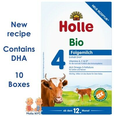 *FREE SHIPPING* Holle stage 4 Organic Formula 08/2019, 600g, 10 BOXES