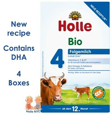 *FREE PRIORITY MAIL* Holle stage 4 Organic Formula 04/2018, 600g, 4 BOXES
