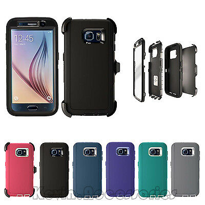 New Defender Rugged Case for Samsung Galaxy S6 w/Belt Clip & Screen Protector