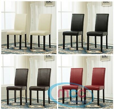 Faux Leather Dining Chairs With Solid Wooden Legs home & commercial restaurants