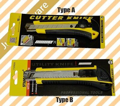 BRAND NEW HIGH QUALITY 18mm Cutter Retractable Blade Utility Cutter Knife