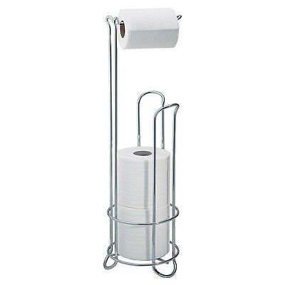 InterDesign Classico Free Standing Toilet Paper Holder for Bathroom - Chrome