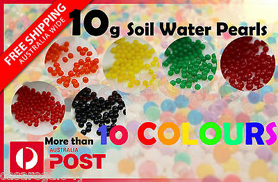 10g Crystal Soil Water Pearls Jelly Balls Beads Function Decoration For Wedding