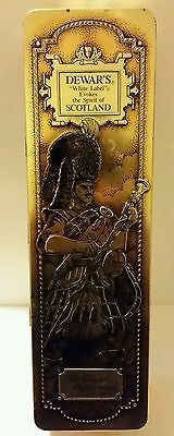 Dewar's White Label Scotch Whiskey  The Dewar Highlander 750 ML. Collectible Tin