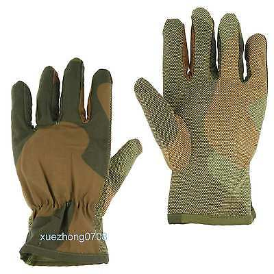 Tactical Outdoor Sports Field Training Slip-Proof Gloves Woodland Camo