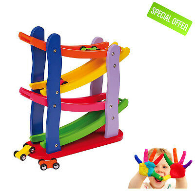Sensory Toys Wooden Racetrack Set Autism Special Need Visual Game