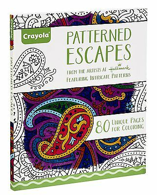 Crayola Patterned Escapes Adult Colouring Book - 80 Unique Pages For Colouring