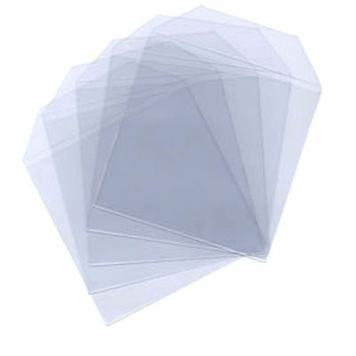 100 Clear Plastic CD DVD Sleeves Envelopes Wallet Case Flap 100 Micron [Pack]