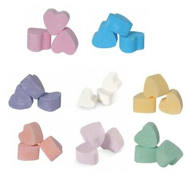 40 Heart Mini Bath Bombs - wedding favour / baby shower / gifts - PLASTIC FREE