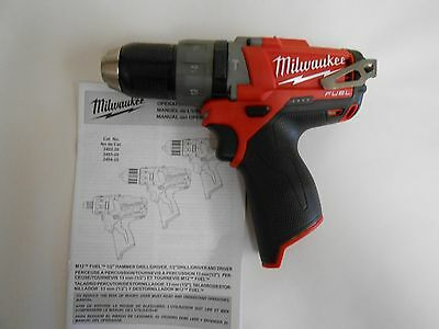 """NEW Milwaukee 2404-20 M12 FUEL™ 1/2"""" Hammer Drill/Driver (Bare Tool)"""