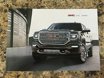 2016 GMC Sierra 50-page Original Sales Brochure