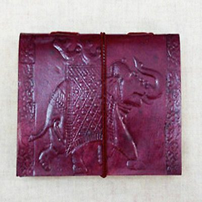 Royal Elephant on MEDIUM Leather Bound Handmade Paper Journal Diary Note Book