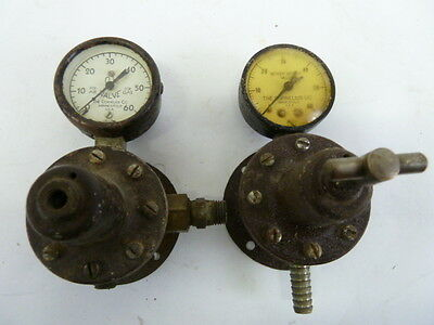 Vintage Cornelius Single Air Gas Valve Gauge Lot Of 2 Steampunk.usa