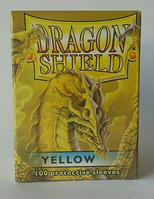 Dragon Shield Standard Size 100 Count Deck Protector Sleeves ~ Yellow ~ NEW mtg