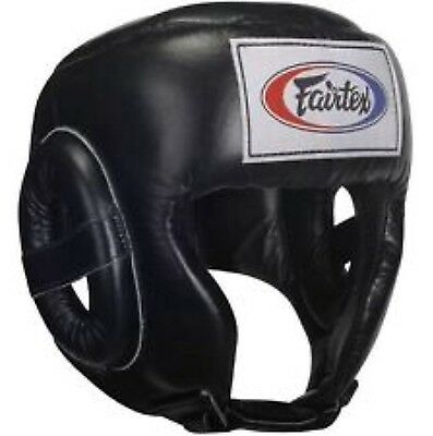 Fairtex Competition Head Guard Large HG9 Black Muay Thai MMA Martial Arts Boxing