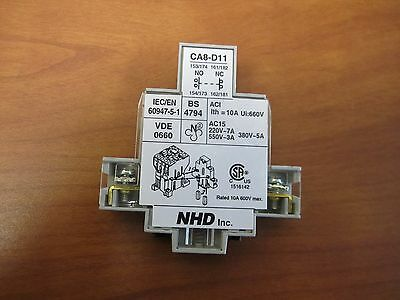 Auxiliary contacts blocks contactors contactors for Nhd inc motor starter