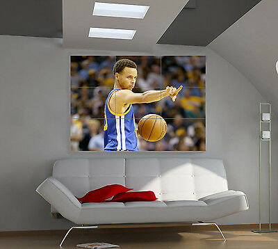 "Stephen Curry Huge Art Giant Poster Wall Print 39""x57"" px527"