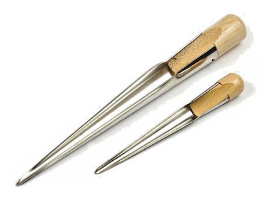 Swedish splicing fids, made from stainless steel & real wood