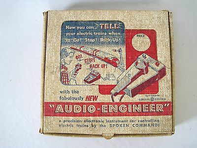 1950's GE Model Railroad Audio Engineer Voice Controller Vintage Toy for Trains