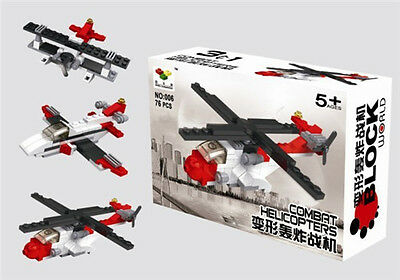 Helicopter series Toy  Building Blocks Set New educational toys for kids gift