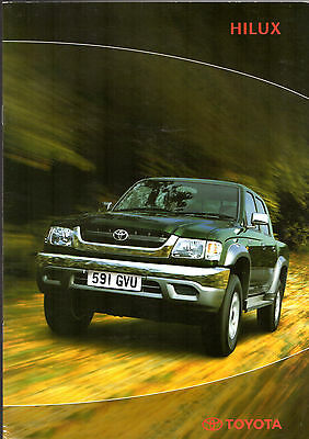 Toyota Hilux Pick-Up 2004 UK Market Brochure Single Extra Double Cab 2WD 4WD