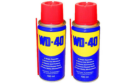 2  WD 40 Aerosol Spray Oil Lubricant Rust Corrosion Protection Lube 100ml