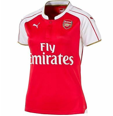 Puma Arsenal FC Season 2015-2016 WOMEN Home Soccer Jersey Brand New Red / White