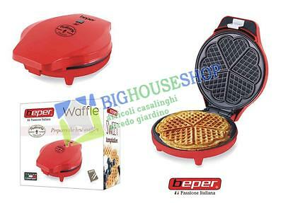 Piastra waffle maker a cuore 700w beper