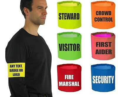 Personalised Custom Printed Hi Vis Viz High Visibility Safety Reflective Armband