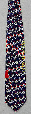 PERIODIC TABLE OF THE ELEMENTS CHEMISTRY SCIENCE Ralph Marlin Silk Necktie NEW!