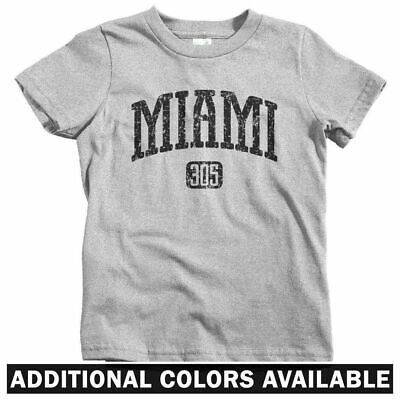 Miami 305 Kids T-shirt Florida South Beach Dolphins Baby Toddler Youth Tee
