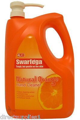 Swarfega HAND WASH Deb ORANGE Heavy Duty Hand Cleaner Pump Action 4L 4 LTR