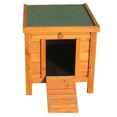 Wooden Cat House Kennel Small Pet Kitty Kitten Outdoor Home Shelter Bed Garden