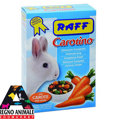 CAROTINO con carote alimento completo conigli 800gr food for rabbit RAFF