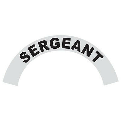 Sergeant Black Helmet Crescent Reflective Decal Sticker