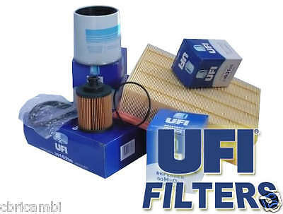 Kit 3 FILTRI MARCA UFI  FIAT PANDA (319) 0.9 TwinAir Turbo Natural Power/CNG