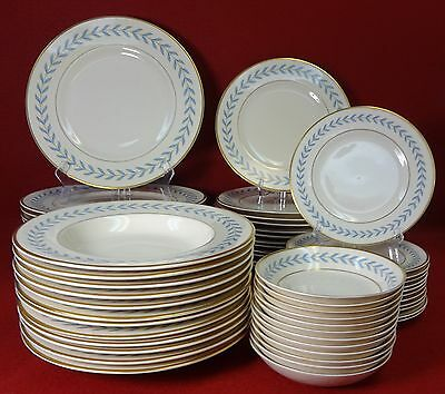 SYRACUSE china SHERWOOD pattern 60 piece SET SERVICE for 12 - NO Cups or Saucers