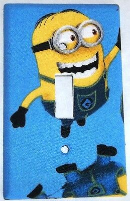 Blue Despicable Me Minion Light Switch Cover Outlet Boy Bedroom Wall Decor Girl