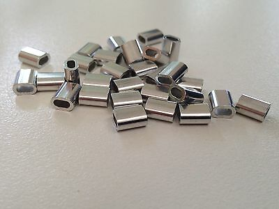 ALLOY CRIMPS 2 mm ID (short crimp) x 1000 Bulk Pack