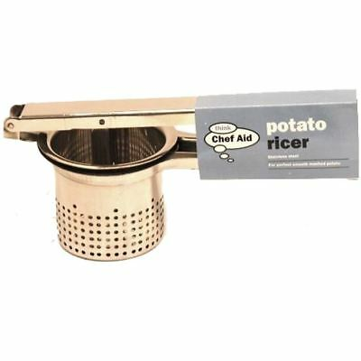 Chef Aid Stainless Steel Easy To Use Potato Ricer Masher