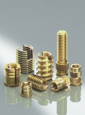 10 pcs New Threaded Brass Insert Nuts M3 for Wood