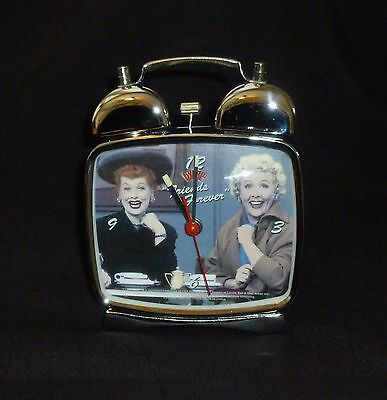 "I Love Lucy ""new"" Bell Alarm Clock Friends Forever Glow In The Dark Hands New!!!"
