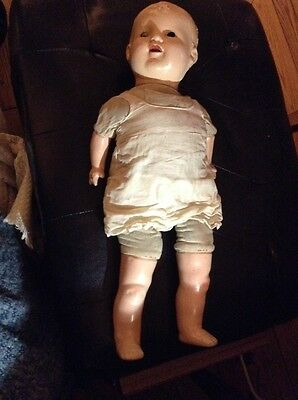 """Vintage antique Composition baby doll cloth body   17"""""""